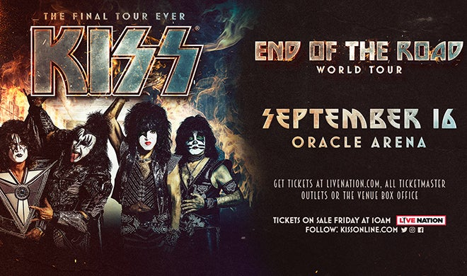 28a77b4bc KISS | Oracle Arena and RingCentral Coliseum