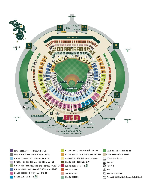 Oakland A's Seating Chart