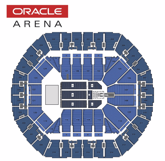 Seating Charts Oracle Arena And Oakland Alameda County Coliseum