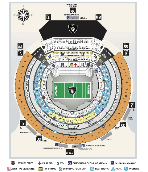 Oakland Raiders Seating Chart