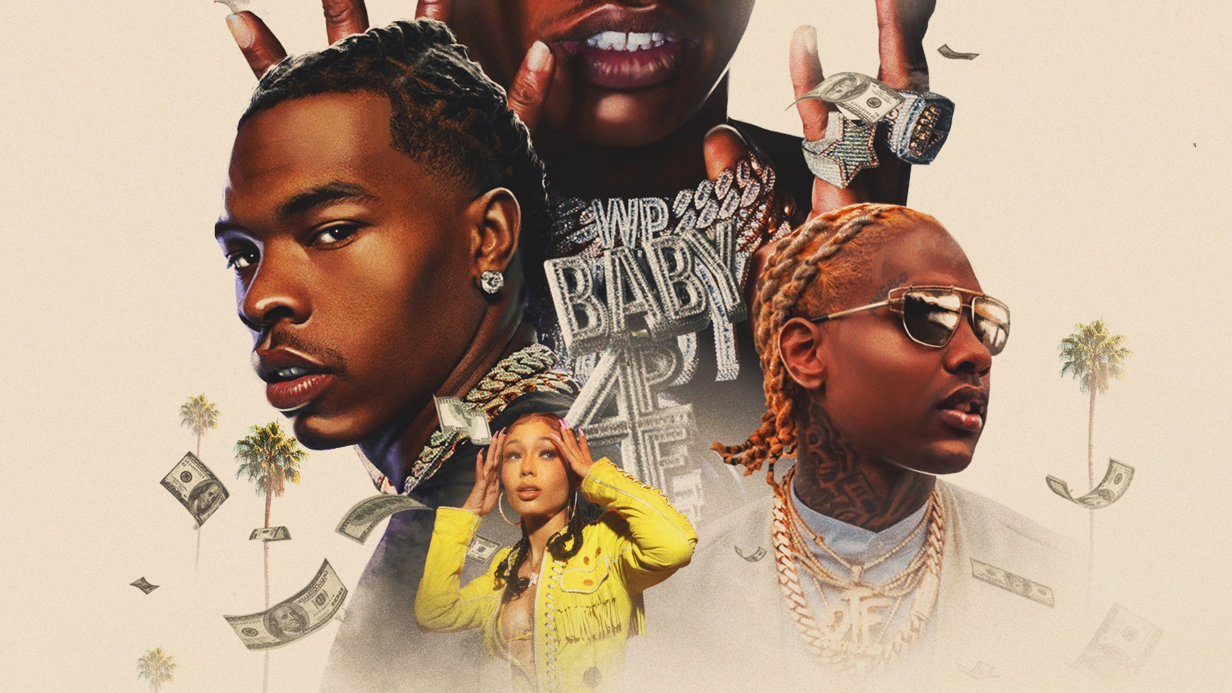 Lil Baby with Lil Durk and Coi Leray