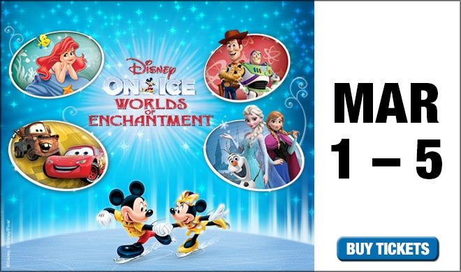 Disney On Ice Presents Worlds Of Enchantment Oracle Arena And
