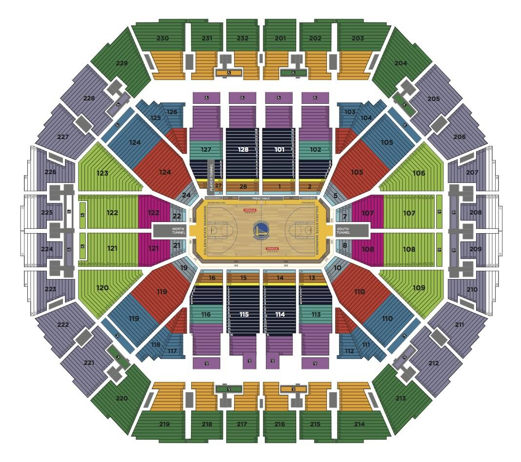 Seating Charts Oakland Arena And Ringcentral Coliseum